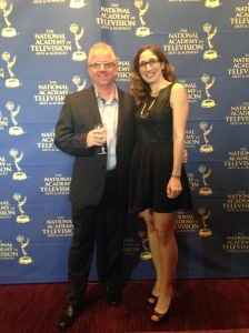 Jezza Neumann and Lauren Mucciolo at the Emmy Awards, Rose Theater at Lincoln Center, NYC.