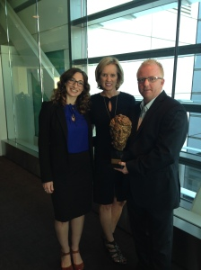 Lauren Mucciolo, Kerry Kennedy and Jezza Neumann at the Newseum, Washington DC